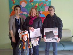 New Year 2014 donation to McMaster Sick Kids Oncology Dept