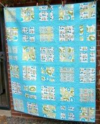 Monaluna Organic fabric modern cross quilt