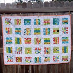 Red Letter Day fabric quilt