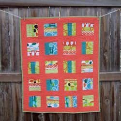 Red Letter Day fabric quilt version 2