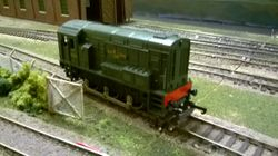 Diesel Shunter no 3004 waits in the goodsyard head shunt for its next working.
