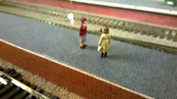 More figures on the platforms.