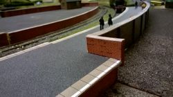 Station walling.