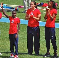 UofA Women's NCAA Indoor Champs scorers introduced