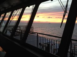 Wheelhouse Sunset