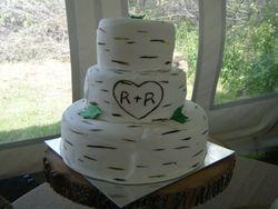 Birch bark Wedding Cake