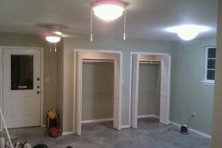 Bedroom/Living Area with dual walkin closets