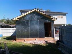 exterior walls up
