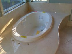 New Master Tub w/ Marble Top