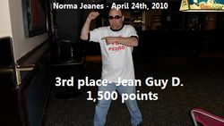 3rd place - Jean Guy D.