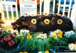 SMOKED PIG FOR TEXAS LUAU