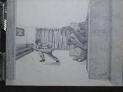 Monster at the door