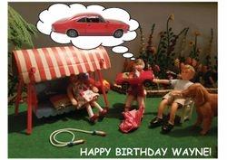 Their friend Wayne's Birthday