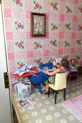 Sewing in the spare bedroom
