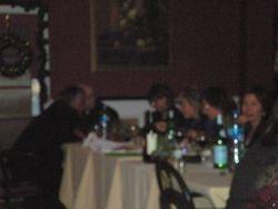 Enjoying the dinner..