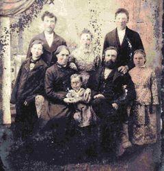 Thomas & Mary J. Hitchcock Morehouse & Family c1881