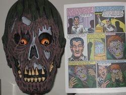 EC  Zombie Mask - Gasp!  By Artist Darrell Vidaurri