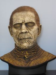Karloff Mummy resin bust painted by John Thomas