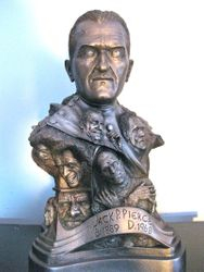 Jack Pierce Tribute Bust painted by George Stephenson