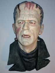 Karloff BRIDE OF FRANKENSTEIN wall hanger by Mike Hill