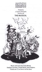 SHOW BILL: W.W. OZ A NEW MUSICAL. NYC reading 2010