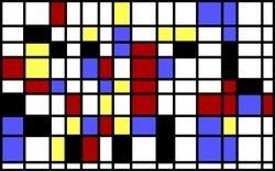 Computer-generated Mondrian
