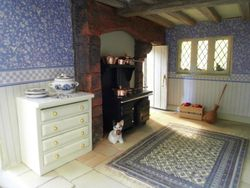 Kitchen range - love the light filtering