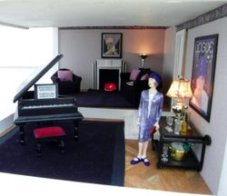 Wallis in her sitting room