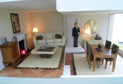 Bertie's living room