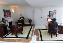 Poirot's sitting room