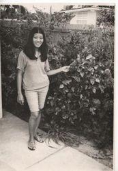 My wife Ott in 1970 at Sattahip