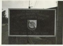 Detachment 1 Sign Udorn 1964