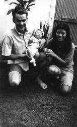 My wife Ott and Son Ray Jr. in Sattahip 1970