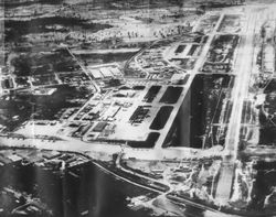 Aerial view of Udorn RTAFB 1964
