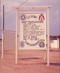 Camp Sign at Kanchanaburi 1969