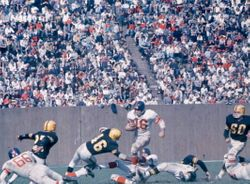 Frank Gifford busts a move