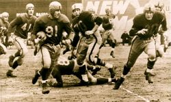 AAFC Action-9ers vs Dodgers 1949