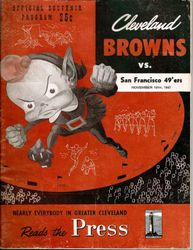Niners at the Browns 1947