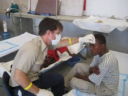 AidWEST Founder John Elliott in Haiti