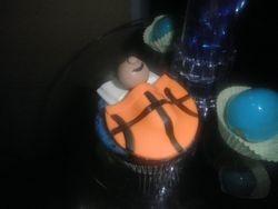 Basketball Baby Cupcakes