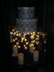 Acrylic light-up cake base