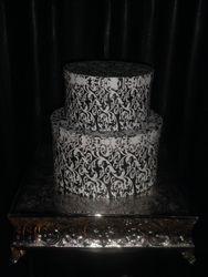 Chrome Square Cake Base