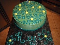 Aqua & Green Strawberry Cake