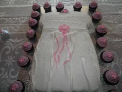 Baptism Dress w/ Baby Pink Oreo Cupcakes