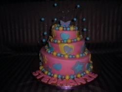 Topsy Turvy Whimsical Birthday Cake