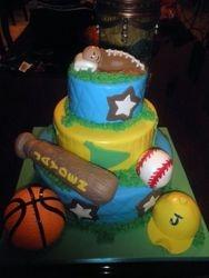 Sports Themed BabyShower Cake