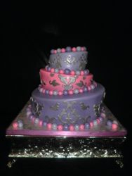 Topsy Turvy Pearlized Purple & Hot Pink w/ Silver