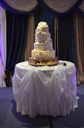 Magnolia & Roses Wedding Cake