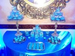 Blue Themed Mini Dessert Set Up