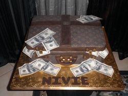 Louis Vuitton Briefcase w/ Money